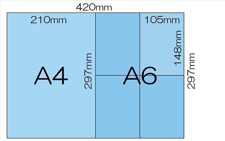 セット3 A4 X 1枚 と A6 X 4枚